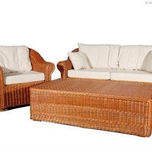 Weidenmöbel CLASSICO, Lounge-Sessel mit Polster, 80 x 85 x 80