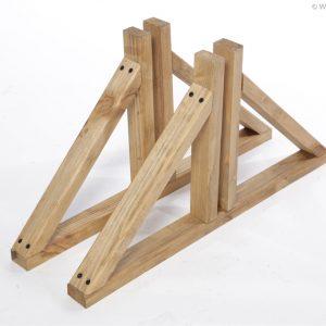 Standfuß aus Holz für Paravent Elegant und Solid