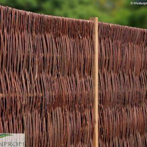 Weidenzaun LATO Solid, senkrecht geflochten, 120 x 180