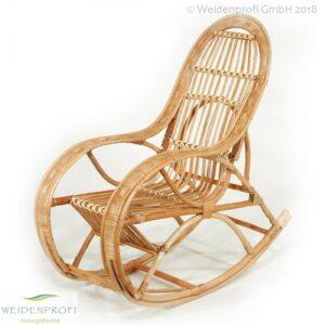 Weidenmöbel, Schaukelstuhl mit Sitzauflage, 56x55x110